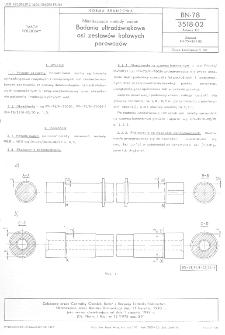 Nieniszczące metody badań - Badania ultradźwiękowe osi zestawów kołowych parowozów BN-78/3518-02 Arkusz 03