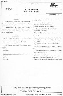 Kozły oporowe - Podział, nazwy i określenia BN-79/9310-06