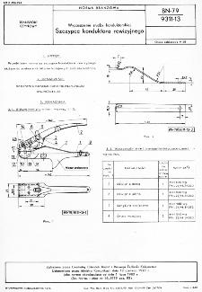 Wyposażenie służby konduktorskiej - Szczypce konduktora rewizyjnego BN-79/9311-13