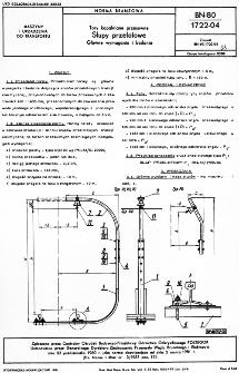 Tory kopalniane przesuwne - Słupy przelotowe - Główne wymagania i badania BN-80/1722-04