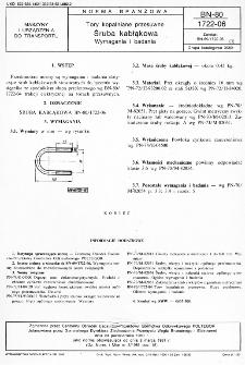 Tory kopalniane przesuwne - Śruba kabłąkowa - Wymagania i badania BN-80/1722-06