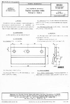 Tory kopalniane przesuwne - Łapka szynowa stała - Wymagania i badania BN-80/1722-07