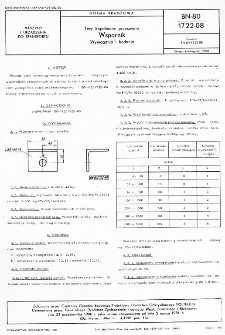 Tory kopalniane przesuwne - Wspornik - Wymagania i badania BN-80/1722-08