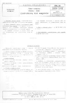 Tabor kolejowy - Napisy i znaki - Ujednolicony kod wagonów BN-90/3500-13/02