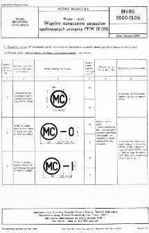 Napisy i znaki - Wspólne oznaczenie pojazdów spełniających przepisy PPW (R-38) BN-80/3500-13.06