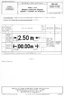 Napisy i znaki - Wspólne oznaczenie długości pojazdu i rozstawu osi skrajnych BN-80/3500-13.09