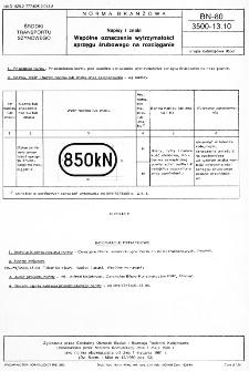 Napisy i znaki - Wspólne oznaczenie wytrzymałości sprzęgu śrubowego na rozciaganie BN-80/3500-13.10