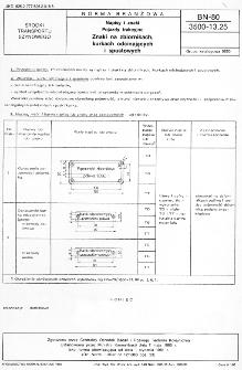 Napisy i znaki - Pojazdy trakcyjne - Znaki na zbiornikach, kurkach odcinających i spustowych BN-80/3500-13.25