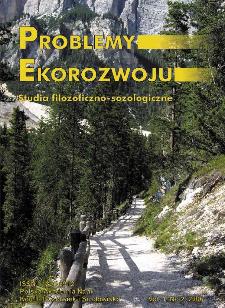 Problemy Ekorozwoju : studia filozoficzno-sozologiczne Vol. 1, Nr 2, 2006