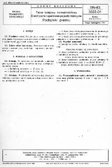 Tabor kolejowy normalnotorowy - Elektryczne i spalinowe pojazdy trakcyjne - Podajniki piasku BN-83/3522-01