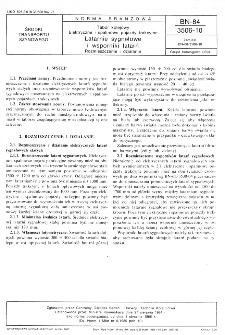 Tabor kolejowy - Elektryczne i spalinowe pojazdy trakcyjne - Latarnie sygnałowe i wsporniki latarń - Rozmieszczenie i działanie BN-84/3506-10