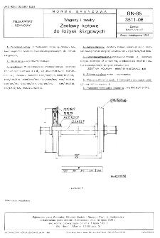 Wagony i tendry - Zestawy kołowe do łożysk ślizgowych BN-85/3511-06