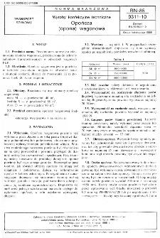 Wyroby konfekcyjne techniczne - Opończa (opona) wagonowa BN-85/9311-10