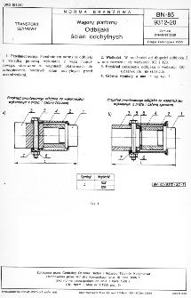Wagony platformy - Odbijaki ścian odchylnych BN-85/9312-20