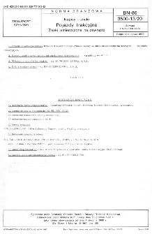 Napisy i znaki - Pojazdy trakcyjne - Znaki umieszczane na zewnątrz BN-86/3500-13/20