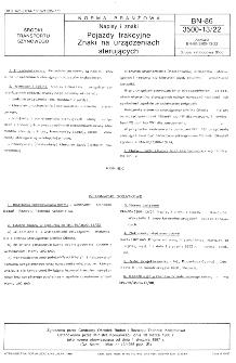 Napisy i znaki - Pojazdy trakcyjne - Znaki na urządzeniach sterujących BN-86/3500-13/22