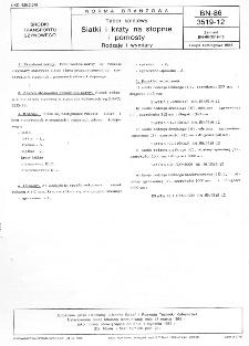 Tabor kolejowy - Siatki i kraty na stopnie i pomosty - Rodzaje i wymiary BN-86/3519-12