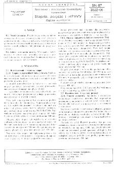 Spalinowe i elektryczne lokomotywy manewrowe - Stopnie, poręcze i uchwyty - Ogólne wymagania BN-87/3522-05