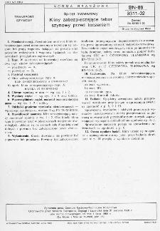 Sprzęt manewrowy - Kliny zabezpieczające tabor szynowy przed toczeniem BN-88/9311-02