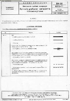 Sterowanie ruchem kolejowym - Symbole graficzne i oznaczenia literowo-cyfrowe BN-88/9315-11