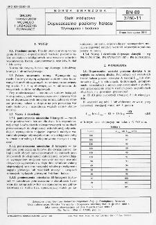 Statki śródlądowe - Dopuszczalne poziomy hałasu - Wymagania i badania BN-89/3780-11