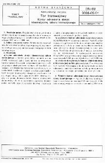 Komunikacja miejska - Tor tramwajowy - Kontur odniesienia skrajni kinematycznej taboru tramwajowego BN-89/9396-05/01