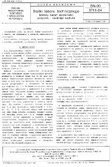 Statki taboru technicznego - Metody badań szczelności połączeń i zamknięć kadłuba BN-90/3711-04