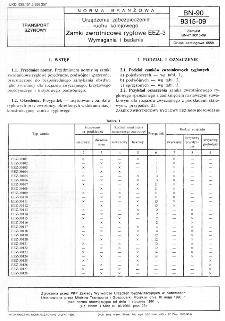 Urządzenia zabezpieczenia ruchu kolejowego - Zamki zwrotnicowe ryglowe EEZ-3 - Wymagania i badania BN-90/9315-09