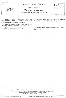 Tabor kolejowy - Wagony towarowe - Rozmieszczenie stopni i uchwytów BN-91/3516-09