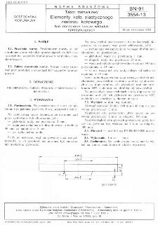 Tabor tramwajowy - Elementy koła elastycznego zestawu kołowego - Nieobrobione tarcze wkładek sprężynujących BN-91/3554-13