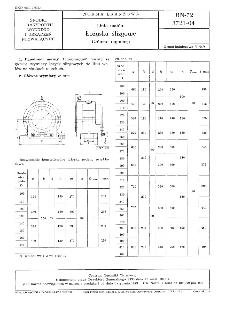 Linia wałów - Łożyska ślizgowe - Główne wymiary BN-72/3721-04