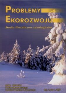 Problemy Ekorozwoju : studia filozoficzno-sozologiczne Vol. 2, Nr 1, 2007