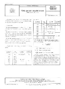 Kotły parowe bezpaleniskowe - Podstawowe parametry BN-77/1315-03