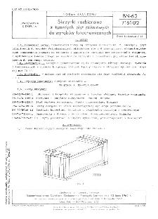 Skrzynki rozbieralne z twardych płyt pilśniowych do wyrobów fotochemicznych BN-62/7161-02