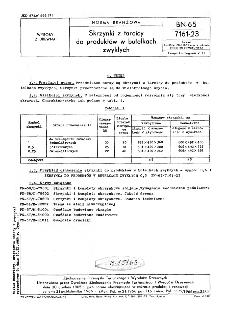Skrzynki z tarcicy do produktów w butelkach zwykłych BN-65/7161-23