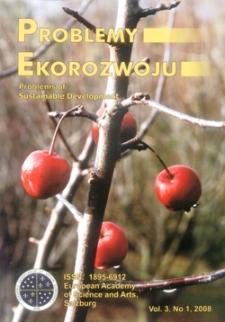 Problemy Ekorozwoju : studia filozoficzno-sozologiczne Vol. 3, Nr 1, 2008
