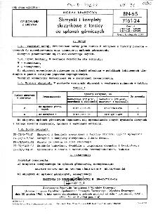 Skrzynki i komplety skrzynkowe z tarcicy do spłonek górniczych BN-65/7161-24