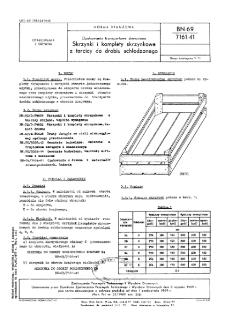 Opakowania transportowe drewniane - Skrzynki i komplety skrzynkowe z tarcicy do drobiu schłodzonego BN-69/7161-41