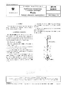 Opakowania transportowe z tworzyw sztucznych - Worki - Badanie udarności naprężeniowej BN-70/6410-01