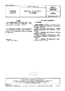 Opakowania z tworzyw sztucznych - Podkładki BN-71/6419-03