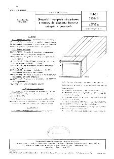 Skrzynki i komplety skrzynkowe z tarcicy do eksportu konserw rybnych w puszkach BN-71/7161-15