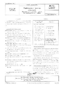 Opakowania z tworzyw sztucznych - Pakowanie, przechowywanie i transport - Wymagania podstawowe i badania BN-72/6410-10