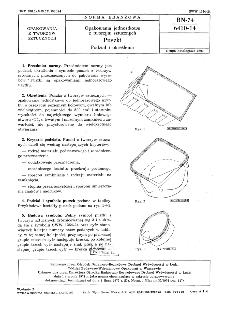 Opakowania jednostkowe z tworzyw sztucznych - Puszki - Podział i określenia BN-74/6410-14