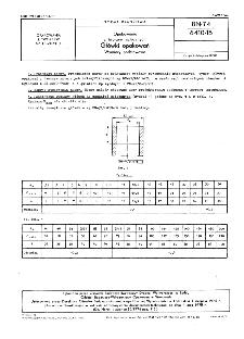 Opakowania z tworzyw sztucznych - Główki opakowań - Wymiary podstawowe BN-74/6410-15
