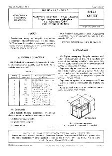 Opakowania transportowe z tworzyw sztucznych - Skrzynki przegrodowe z polietylenu lub z kopolimeru PE/PP - Ogólne wymagania i badania BN-74/6411-04