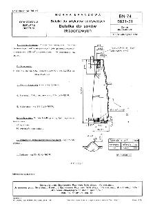 Butelki do artykułów spożywczych - Butelka do soków eksportowych BN-74/6831-31