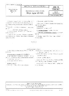 Opakowania szklane leków - Słoje typu LS-101 BN-74/6833-01