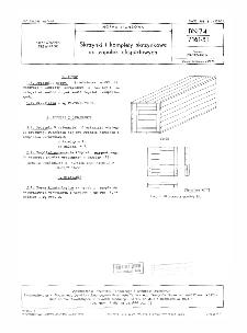 Skrzynki i komplety skrzynkowe do zapałek eksportowych BN-74/7161-51