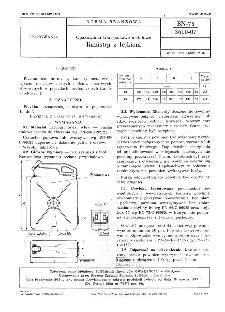Opakowania transportowe metalowe - Kanistry z lejkiem BN-75/3610-07