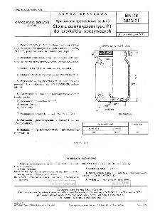 Opakowania jednostkowe szklane - Słoje z zamknięciem typu PT do artykułów spożywczych BN-76/6833-21